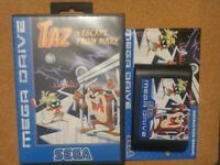 Sega Mega Drive Game Taz in Escape From Mars Boxed with Manual