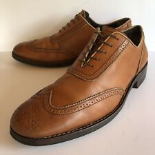 11.5 D Wolverine 1000 Mile Oxford Brown Leather Dress Casual Shoes 11 1/2 Medium