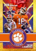 2018 TREVOR LAWRENCE VERY FIRST COLLEGE GOLD ROOKIE GEMS ROOKIE CARD CLEMSON!
