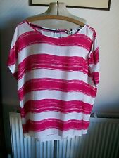Marks and Spencer Women's Striped Crew Neck Hip Length Tops & Shirts