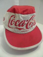 Vintage Rare Coke Coca Cola Red and White Painters Cap Hat - Small/Medium