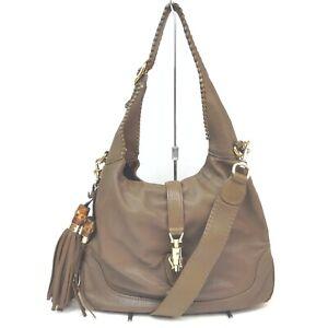 Gucci Shoulder Bag  Browns Leather 712150