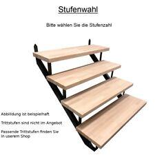 Treppenrahmen Stahl-Treppe RAL 7016 Anthrazit Treppenholm 2-10 Stufen-Wahl