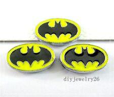 5pcs Batman 8mm Slide Charms Fit Name DIY Bracelet/Phone strips Free ship SL0235