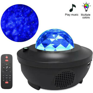 Galaxy Star USB Night Lamp LED Starry Sky Projector Light with Ocean Wave Remote