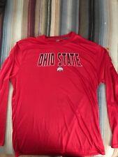 Ohio State University Buckeyes Long Sleeve J. America Large Shirt Polyester
