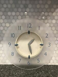 VINTAGE 1999 | FROSTED ACRYLIC WALL CLOCK | MICHAEL GRAVES DESIGN | WORKING
