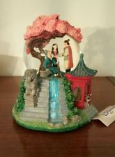 Disney Store Mulan Reflections Snow Globe Snowglobe Rotating Base Cherry Blossom