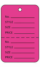 Unstrung Pink Flamingo Perforated Coupon Price Tags 1 W X 2h 1000
