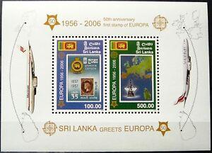 Sri Lanka Souvenir Sheet - Sri Lanka Greets Europa_2006 - MNH.