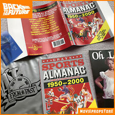 Grays Sports Almanac BACK TO THE FUTURE MOVIE PROP SET + bag, receipt, Oh Lala