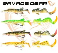 Savage Gear NEW 3D PIKE HYBRID 17cm 25cm Ready To Fish Lure Spare Tail Fishing