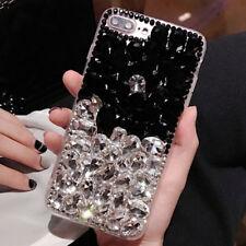 Glitter Rhinestones Jewelled Bling Diamonds Soft TPU back Case Phone Cover UK23