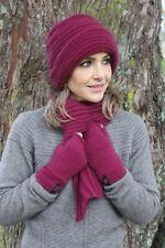 Possum Fur and Merino Wool - Ribbed Loop Scarf - New Zealand Made