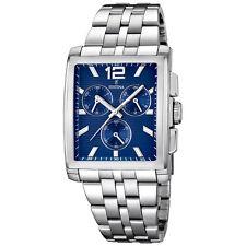 Rechteckige Festina Armbanduhren mit Edelstahl-Armband und Chronograph