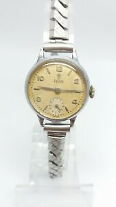 Ladies Watch Tudor Small Rose Rolex small Second Vintage1950's RARE Dial