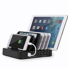 7-Port USB Hub Ladegerät Multischnittstelle Handy Tablette Ladestation CP