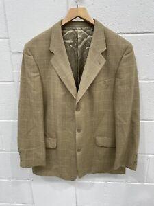 Brook Taverner Men's Tweed Blazer Sports Jacket Light Brown Size 46 Country