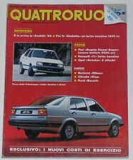 QUATTRORUOTE 5/1984 BERTONE CABRIO – RENAULT 11 TURBO – OPEL SENATOR 3.0 E CD