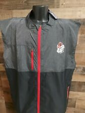 New listing Champion 2XL XXL Mens George Bulldog FullZip Gray Red Black Golf  Vest New...