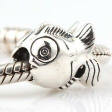 Fish Charm Bead 925 Sterling Silver