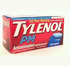 TYLENOL PM EXTRA STRENGTH 100 CAPLETS PAIN RELIEVER/SLEEP AID  No box Exp 03/18+