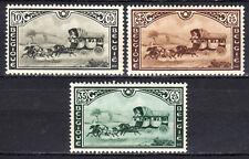 Belgium - 1935 Belgian stamp meeting / Coach - Mi. 402-04 MH