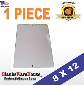 """1 Piece PARKING SIGN  ALUMINUM  SUBLIMATION BLANKS 8"""" x 12"""" / WITH HOLES"""