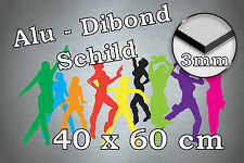 Werbeschild Schild aus Alu-Dibond 3 mm, Ihr Projekt, 40x60 cm