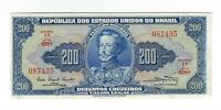 200 Cruzeiros Brasilien 1961 C041 / P.171a - Brazil Banknote