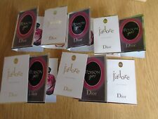 FREEPOST JOB LOT 10 DIOR LADIES SAMPLES VIALS WEDDING FAVOURS J'ADORE & POISON