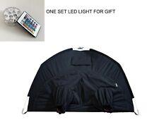 Darkroom Large Format Camera Film Wet Plate Film Changing Tent Bag w/ LED Light