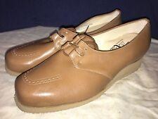 P. W. Minor Ortopédicas Marrón Encajes Tacón Plataforma Cómodo Zapato 10.5 D