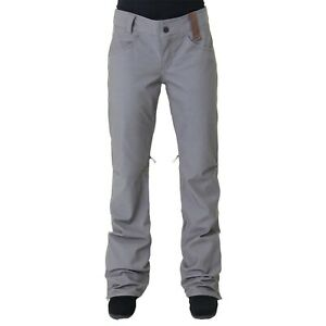 New Holden Womens Standard Denim Skinny Shell Snowboard Pants Extra Small Grey
