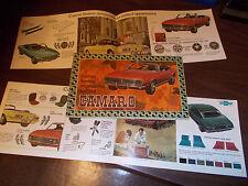 1968 Chevrolet Camaro Accessories Catalog / Original and Excellent Condition !!
