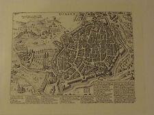 ANCIENNE GRAVURE PL6 PLAN CAVALIER DE DIJON I. LAURUS 1621