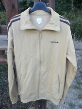 Veste ADIDAS rétro vintage marron clair felpa jacket collection giacca M