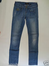KILLAH JEANS STRETCH 26 EBEL stretchjeans Slim Denim Blue used Destroy/j101