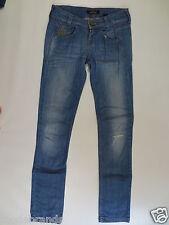 KILLAH Stretch Jeans 26 EBEL Stretchjeans Slim denim blue used destroy/J101