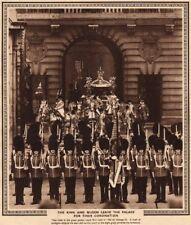 CORONATION 1937. King George VI & Queen Elizabeth leave Buckingham Palace 1937