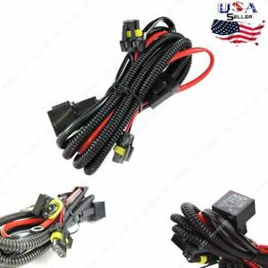 9005 9006 H10 Relay Wire Harness For HID Conversion Kit AddOn Fog Lights LED DRL