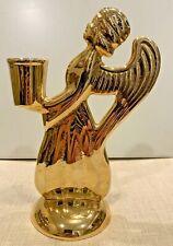"""Skultuna 7"""" Guardian Angel Candle Holder Gold Plated Sweden"""