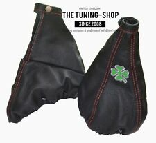 "For Alfa Romeo GT 03-10 Gear & Handbrake Gaiter Leather ""Clover"" Embroidery"