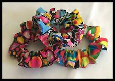Lazo Para El Pelo Vintage 3 gomas multicolores banda elástica de tela discoteca cola de caballo