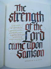 Calligraphy Bible Passages Art Christian Bible Study Phrases Religious 1987
