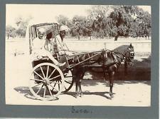 Inde, India, transport, taxi en charette  Vintage silver print,  Tirage argent