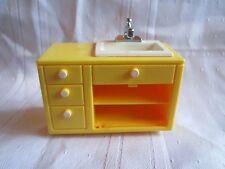 Vintage Fisher Price Dollhouse Doll Kitchen Sink from 4327 Kitchen Set