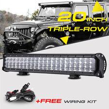 "20""INCH 630W CREE TRIPLE-ROW LED LIGHT BAR COMBO BEAM WORK LAMP TRUCK ATV 22/24"""