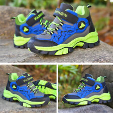 Kids Boys Winter Waterproof Snow Boots Outdoor Sneakers Hiking Shoes Plus Size