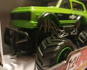 ✅NEW Bright 1:24 RC Trucks Chevy Blaze 2.4GHz 2-Speed Remote Control Vehicle
